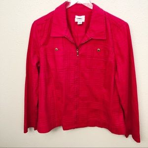 Christopher & Banks Red Jacket Sz XL